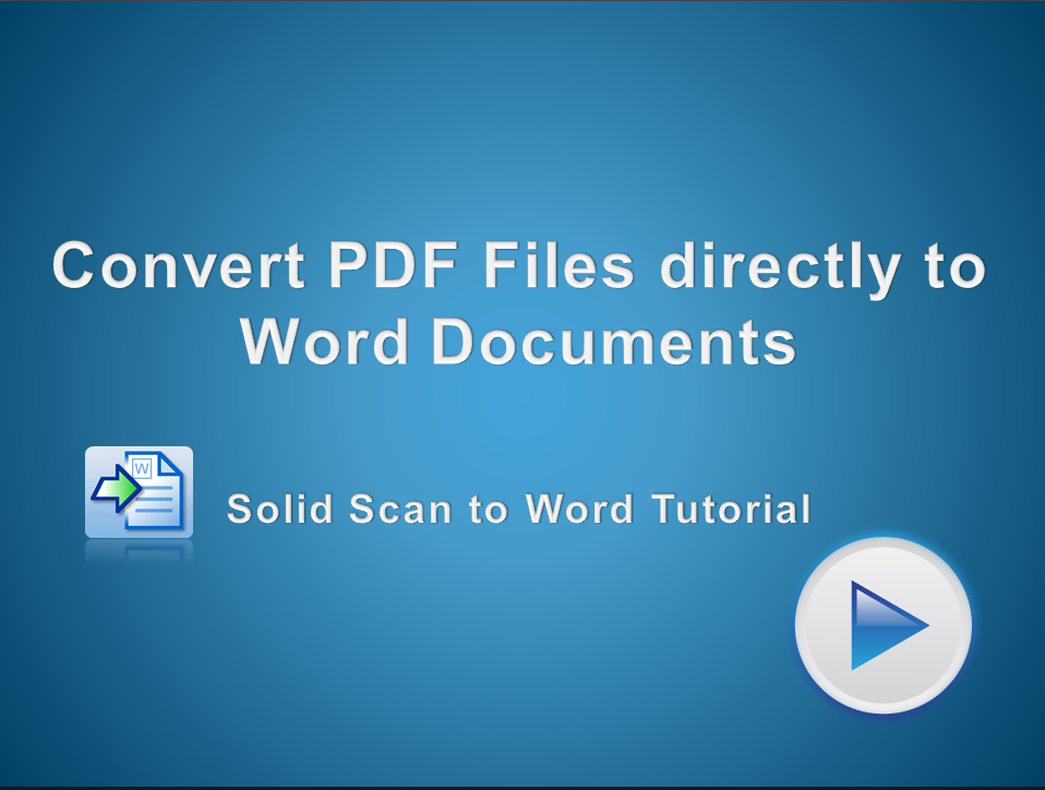 Convert PDF Files into Microsoft Word Documents