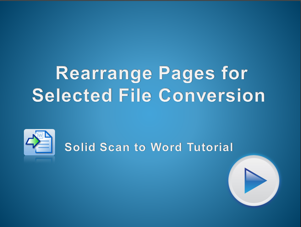 Rearrange Pages in a PDF File for Selected File Conversion