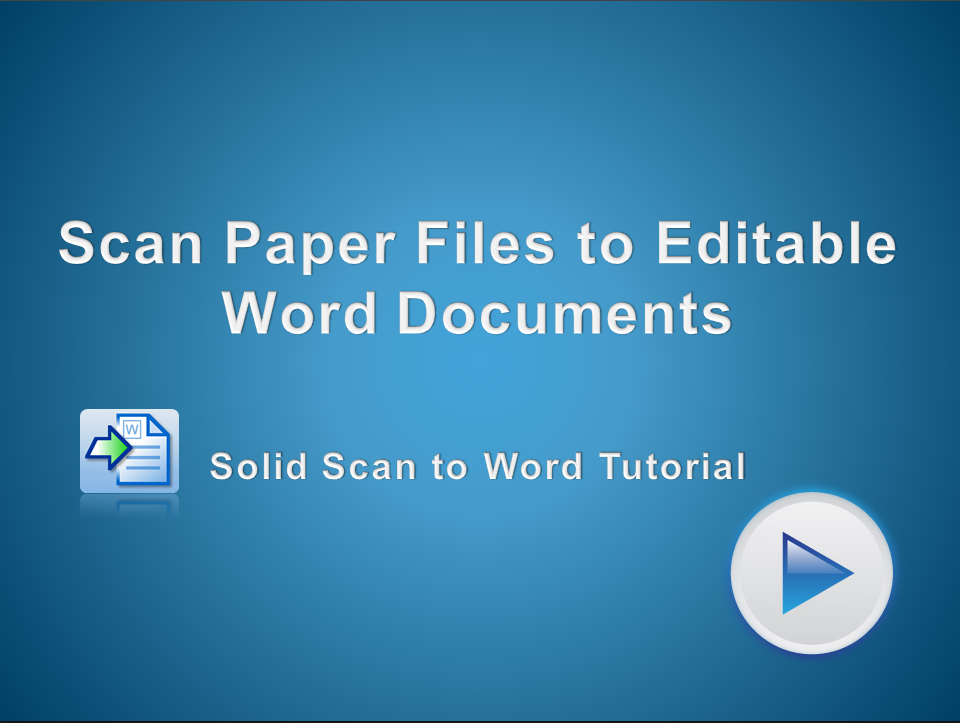 Scan PDF Files to Editable Microsoft Word Documents