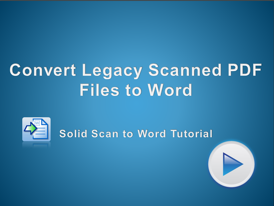 Recover Legacy Scanned PDF Files